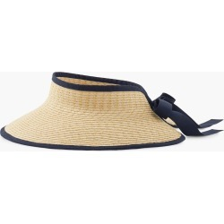 Paper Straw Roll-Up Visor - Natural/Indigo Blue - 001 Talbots found on Bargain Bro from Talbots for USD $30.02