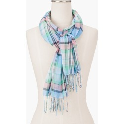 Magical Madras Oblong Scarf - Laguna Blue - 001 - 100% Cotton Talbots found on Bargain Bro India from Talbots for $22.49