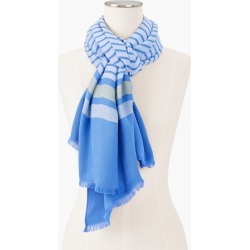 Stripe Oblong Scarf - Blue Wave - 001 Talbots found on Bargain Bro from Talbots for USD $27.35