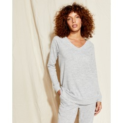 Marled V Neck Top - Grey Sky Heather - XS Talbots found on Bargain Bro India from Talbots for $64.99