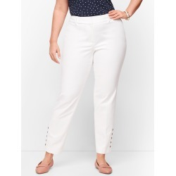 Plus Talbots Hampshire Ankle Pants - Double Weave - Button Hem - White - 20 found on Bargain Bro India from Talbots for $41.99