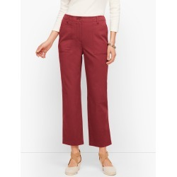 Patch Pocket Crop Chinos Pants - Port Wine - 2 Talbots found on Bargain Bro India from Talbots for $41.99