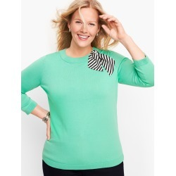 Stripe Scarf Detail Sweater - Pale Jade - 1X Talbots found on Bargain Bro Philippines from Talbots for $39.99