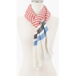 Stripe Oblong Scarf - Bright Apple - 001 Talbots found on Bargain Bro from Talbots for USD $27.35