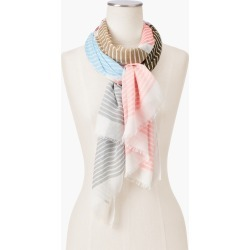 Chevron Stripe Scarf - Ivory - 001 Talbots found on Bargain Bro India from Talbots for $22.49