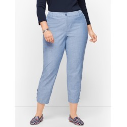 Perfect Crop Pants - Chambray - Light Blue - 16 - 100% Cotton Talbots found on Bargain Bro India from Talbots for $29.99