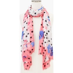 Dotted Floral Scarf - Ivory - 001 Talbots found on Bargain Bro from Talbots for USD $45.22