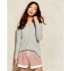 Pure Cashmere V Neck Sweater - Grey Sky Heather - Medium Talbots found on Bargain Bro India from Talbots for $178.00