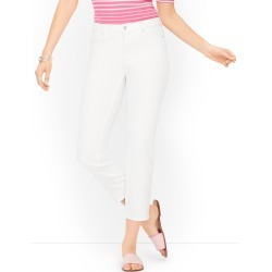 Straight Leg Crop Jeans - Colors - White - 16 Talbots found on Bargain Bro from Talbots for USD $76.00
