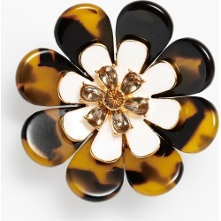 Layered Tortoise Flower Brooch - Tortoise/Ivory/Gold - 001 Talbots found on Bargain Bro India from Talbots for $17.49