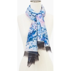 Leafy Garden Oblong Scarf - Biscayne Blue - 001 Talbots found on Bargain Bro from Talbots for USD $45.22