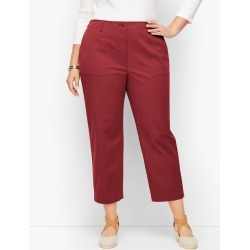 Patch Pocket Crop Chinos Pants - Port Wine - 14 Talbots found on Bargain Bro India from Talbots for $47.99
