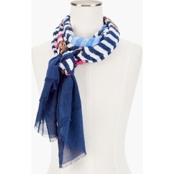 Springtime Floral Oblong Scarf - Ink - 001 Talbots found on Bargain Bro from Talbots for USD $45.22