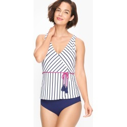 Cabana Life® Faux Wrap Tankini - Sapphire - Purple Orchid - Small Talbots found on Bargain Bro from Talbots for USD $60.42