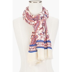 Dancing Paisley Oblong Scarf - Ivory - 001 Talbots found on Bargain Bro from Talbots for USD $45.22