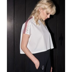 The Kooples - Cotton contrasting band loose white top - WOMEN