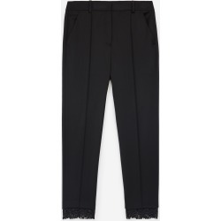The Kooples - Stretchy black suit pants in wool w/lace - WOMEN