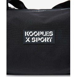 The Kooples - Black fabric gym bag with logo - MEN
