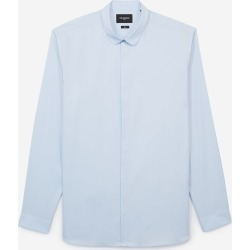 The Kooples - Men's white shirt in cotton with round collar - MEN