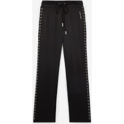 The Kooples - Flowing black pants with lace trims - WOMEN