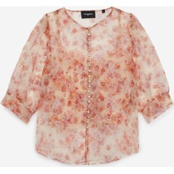 The Kooples - Fitted floral printed see-through top - WOMEN found on MODAPINS from The Kooples for USD $278.00
