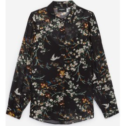 The Kooples - Printed black women's shirt and camisole - WOMEN