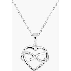 Kit & Katie Sterling Silver Infinity Heart Pendant Necklace
