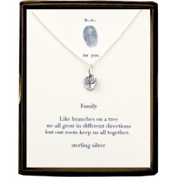 B. U. Jewelry Sterling Silver Family Tree Necklace