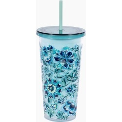 Vera Bradley Double Walled Tumbler with Straw in Cloud Vine found on Bargain Bro India from thepaperstore.com for $16.95