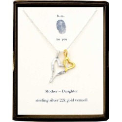 B. U. Jewelry Sterling Silver Mother Daughter Necklace