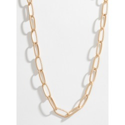 Canvas Short Chain Link Necklace in Gold