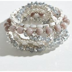 Mia + Tess Designs ™ Exclusive Lavender Beaded Bracelet Stack (Set of 5)