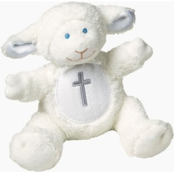 Mary Meyer Christening Lamb White Plush Rattle