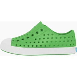 Native Shoes Jefferson Child Slip-on Shoes in Grasshopper Green