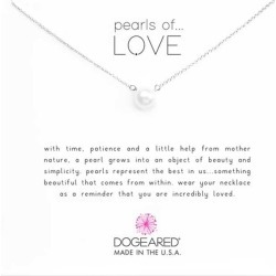 Dogeared Sterling Silver Pearls of Love Necklace