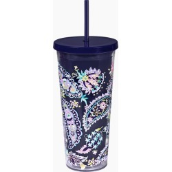Vera Bradley Double Wall Tumbler with Straw in French Paisley found on Bargain Bro India from thepaperstore.com for $16.95