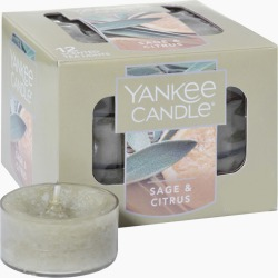 Yankee Candle Sage & Citrus Scented Tea Lights (box of 12)