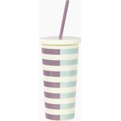 kate spade new york Two-Tone Stripes Tumbler with Straw found on Bargain Bro India from thepaperstore.com for $18.00