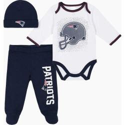 Gerber New England Patriots Baby Bodysuit 3-Piece Set