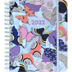 Vera Bradley 17-Month 2022 Large Planner in Butterfly By