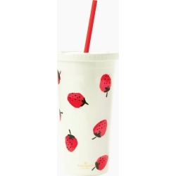 kate spade new york Strawberries Tumbler with Straw found on Bargain Bro India from thepaperstore.com for $18.00