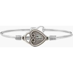 Luca + Danni Key to My Heart Bangle Bracelet in Silver found on Bargain Bro India from thepaperstore.com for $28.00