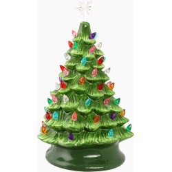 The Paper Store Ceramic Christmas Tree with Lights 15 Inch