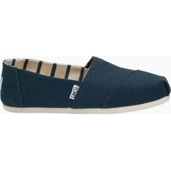 TOMS Classic Slip-On Canvas Shoes in Majolica Blue