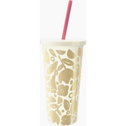 kate spade new york Golden Floral Tumbler with Straw found on Bargain Bro India from thepaperstore.com for $18.00