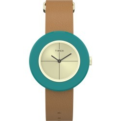 Timex Watch Women's Variety 34MM Leather Strap Gold-Tone/tan/gold-Tone Item # Tw2T92800Vq