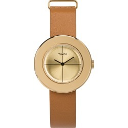 Timex Watch Women's Variety 34MM Leather Strap Gold-Tone/gold-Tone Item # Tw2T51300Vq