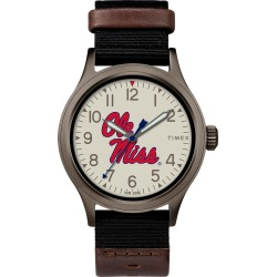 Timex Watch Men's Clutch Mississippi Rebels Titanium/black/other Item # Twzumismbyz