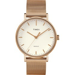 Timex Watch Women's Fairfield 37MM Mesh Band Rose Gold-Tone/rose Gold-Tone/natural Item # Tw2R26400Vq