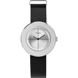 Timex Watch Women's Variety 34MM Leather Strap Silver-Tone/silver-Tone Item # Tw2T51400Vq